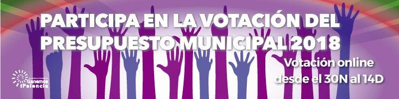 Vota el Presupuesto Municipal 2018 de Ganemos Palencia