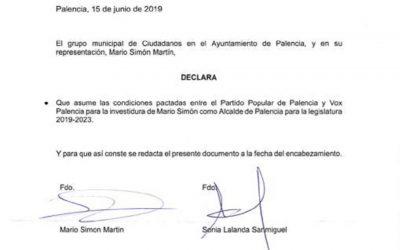 Ganemos Palencia duda del contenido del pacto de Gobierno