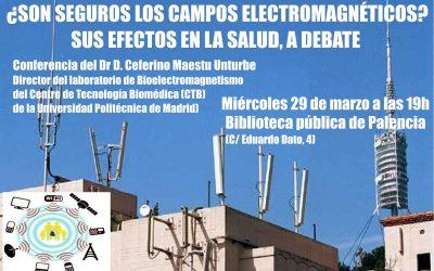 Conferencia del Dr. Ceferino Maestú en Palencia sobre Campos Electromagnéticos