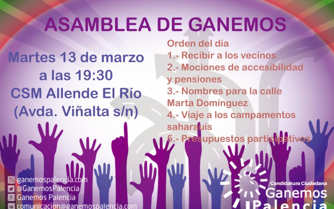 Acta de la Asamblea de Ganemos Palencia del 13 de marzo de 2018