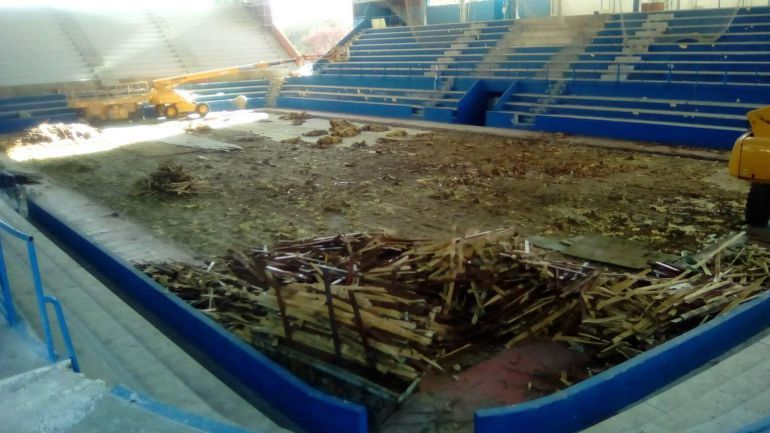 Sobre la ampliación del pabellón municipal de Deportes