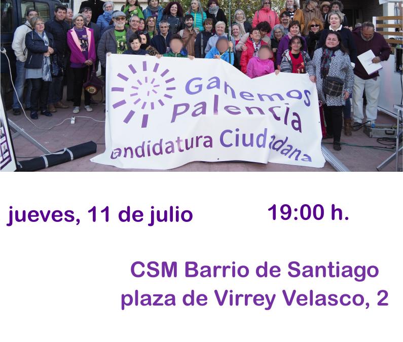 Acta de la Asamblea ordinaria de Ganemos Palencia del 11 de julio de 2019